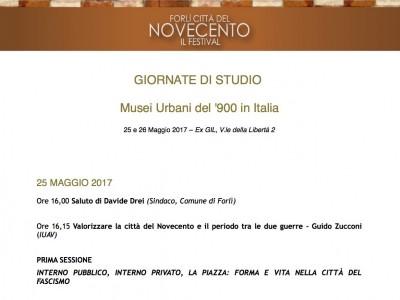 Musei urbani del '900 in Italia. Convegno a Forlì, 25-26 maggio 2017