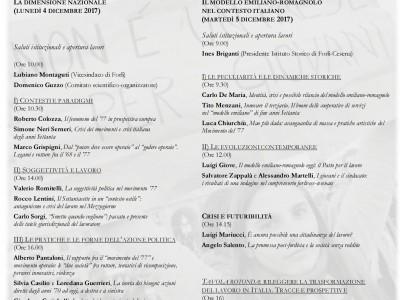 """Convegno nazionale di studi """"La crisi del lavoro in Italia dal movimento '77 ad oggi"""