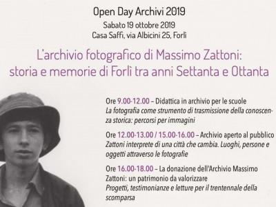 Open Day Archivi 2019 - L'Archivio fotografico di Massimo Zattoni - Forlì, 19 ottobre 2019