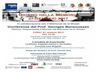 Giorno della Memoria, 27 gennaio 2017