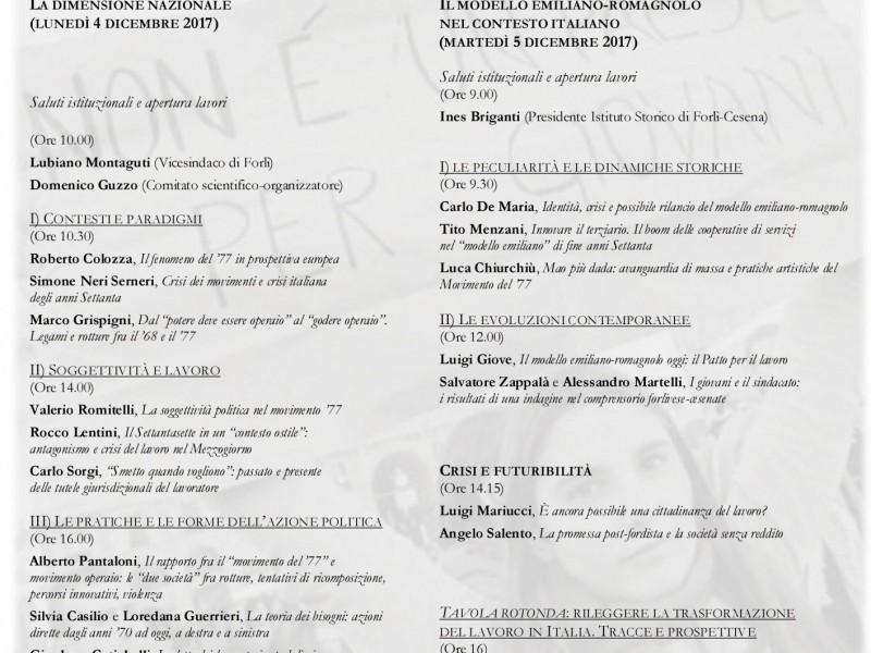 Convegno Di Studi La Crisi Del Lavoro In Italia Dal