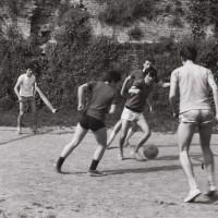 Rocca di Caterina Sforza, partita di pallone,  1977
